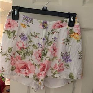flowered shorts